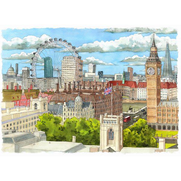 Londres acuarela London watercolor