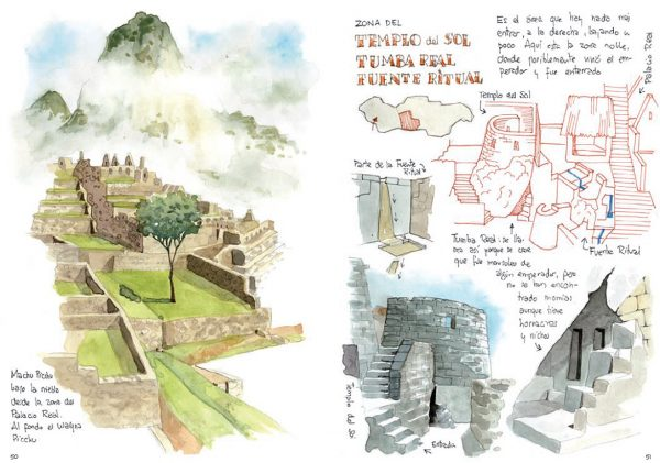 Acuarela Machu Picchu