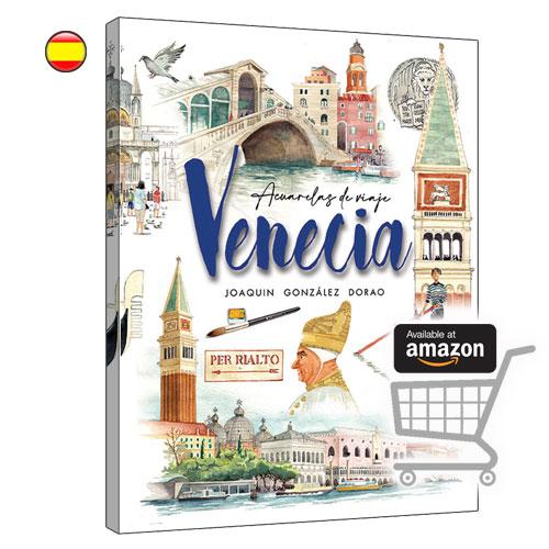 Venecia libro de viajes cuaderno acuarelas