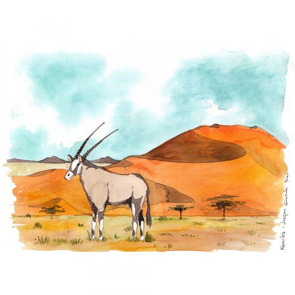 Namibia acuarela