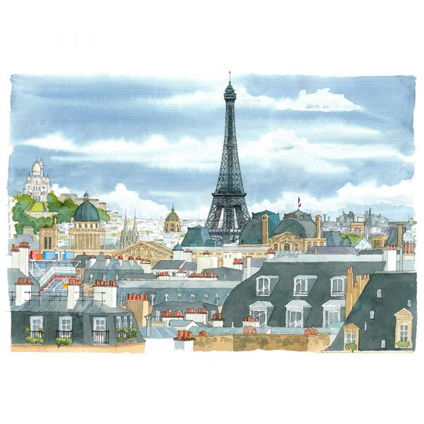 Paris acuarela aquarelle