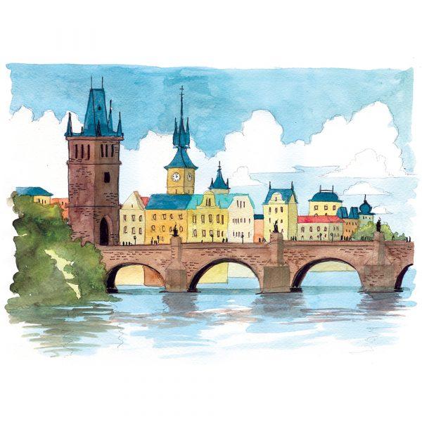 Praga acuarela