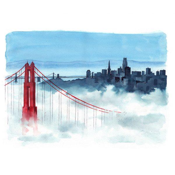 San Francisco acuarela