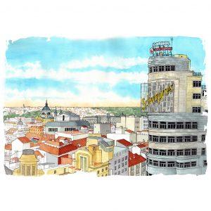Madrid en acuarela