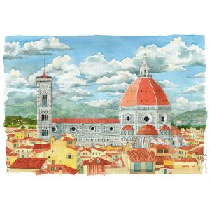 Florencia duomo acuarela